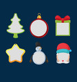 christmas object design frame set vector image