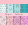 vintage seamless pattern set baroque ornament vector image