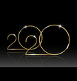 2020 happy new year with gold texture isolated
