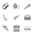 9 comb icons vector image vector image