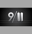 911 art for september 11 usa - patriot day banner vector image vector image