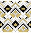 abstract geometric seamless crown pattern vector image vector image