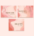 abstract universal beauty templates vector image