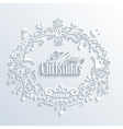 Abstract White Merry Christmas and Happy New Year vector image vector image