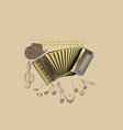 accordion festival template vector image vector image