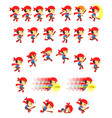 adventure boy game sprites vector image vector image