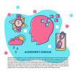 alzheimer s disease concept banner template in vector image vector image