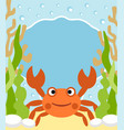 background sea with crab vector image