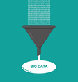 Big Data analysis filter funnel flat vector image