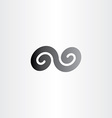 black infinity spiral symbol sign icon vector image vector image