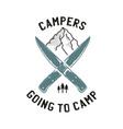 camping adventure logo emblem design vector image vector image
