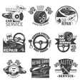Car Repair Emblem Set vector image vector image