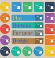Coffee turk icon sign Set of twenty colored flat vector image vector image