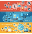 Communication line banners set vector image vector image