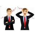 concept face emotion with businessmen vector image vector image