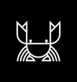 crab monogram linear logo design vector image vector image