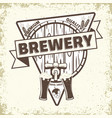 craft beer emblem design vector image vector image