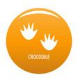crocodile step icon orange vector image vector image