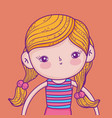 cute and funny girl with hairstyle wearing vector image vector image