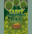 day poster design template st patrick easy vector image vector image