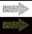 electric scheme of arrow symbol vector image vector image