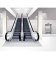 Escalator Interior Realistic Concept vector image vector image