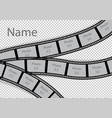 film strip photo frame effect template collage vector image vector image
