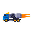 flaming racing truck turbo heavy vehicle freight vector image vector image