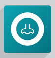 flat nose icon vector image