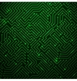 futuristic shining green technology background vector image