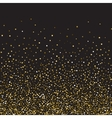 Golden glitter shine texture on a black background vector image vector image