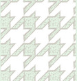 hand drawn houndstooth seamless pattern vector image vector image