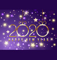 happy new year background with decorative gold vector image vector image