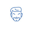 hipster haircut line icon concept hipster haircut vector image