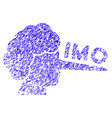 imo lier icon grunge watermark vector image vector image