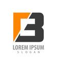 initial letter b bold concept design symbol vector image