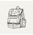 It is a of backpack vector image vector image