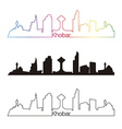 Khobar skyline linear style with rainbow vector image vector image