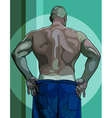 large male athlete view from the back vector image vector image