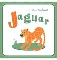 Letter J - Jaguar vector image vector image