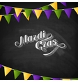 Mardi Gras on the blackboard texture vector image
