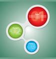 modern circle diagram poster vector image vector image