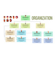 organizational structure company organogram vector image