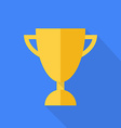 prize cup flat design vector image vector image
