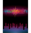 Rainbow Sound Waves vector image vector image