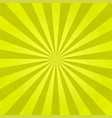 rays background yellow vector image vector image
