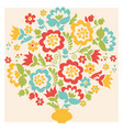 retro style flower summer bouquet in pastel color vector image