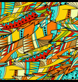 seamless pattern background with abstract feather vector image vector image