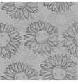 seamless pattern sunflowers Abstract gray black vector image vector image