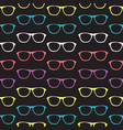 seamless pattern with hand drawn glasses vector image vector image